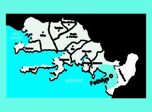 Fethiye haritası