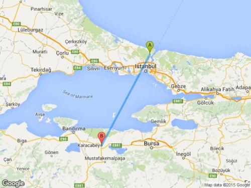 Bursa Karacabey Haritası