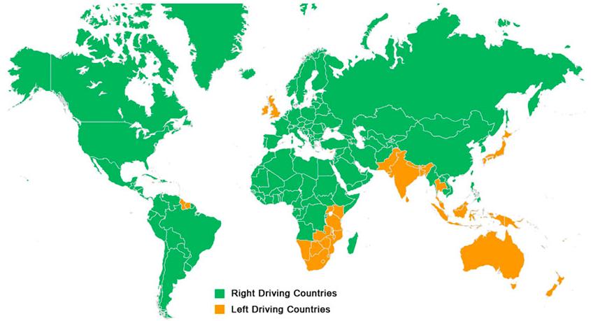 Trafik Hangi Ülkelerde Sağdan Hangi Ülkelerde Soldan Akıyor